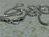 "16"" Silver Box Chain 925 Silver 3.6g"
